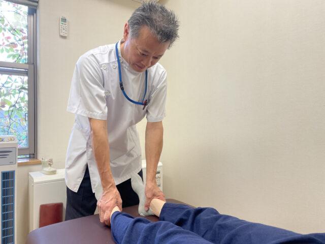 下肢の長さの検査