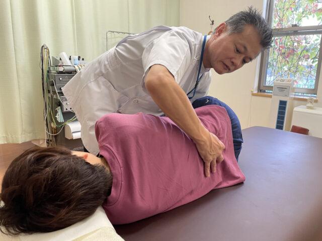 腰椎に対する施術